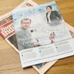 """Juni 2013: Publicerar copy i Dagens Industri-bilagan """"Framtidens Forskning"""""""