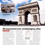 """""""Ett monument över världskrigens offer"""" – om triumfbågen i Paris"""